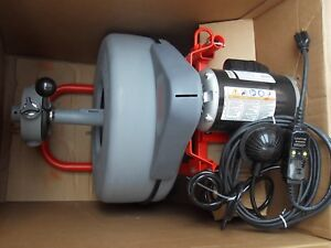 Ridgid K750 42007 Drain Cleaning Machine 3 4x100 5 8x125 With Tool Kit