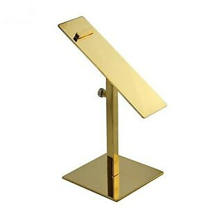 Brand New Iml Gold Stainless Steel Adjustable Shoe Display Stand Holder