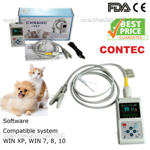 Veterinary Pulse Oximeter Handheld Spo2 Pr Monitor Vet Tongue Probe sw