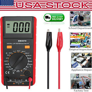 New Lcd Bm4070 Lcr Multimeter Capacitance Inductance Resistance Self discharge
