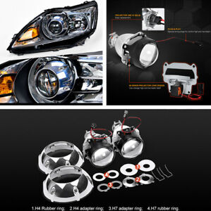 2pcs 3 Xenon Hid Projector Lens With Silver Shrouds For H4 H7 Lhd Car Headlight