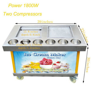 Open Box Business Commercial Ice Cream Maker Machine Fried Ice Cream 110v