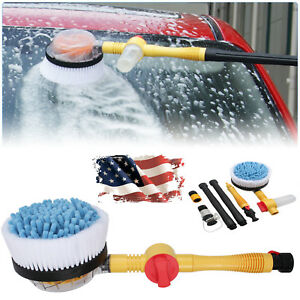 1885psi Car Rotating Pole Washing Cleaning Brush Sponge Wash Vehicle Cleaner