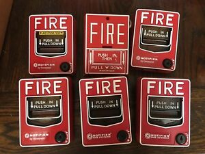 Lot 6 Honeywell Notifier Nbg Dual Action Addressable Fire Alarm Pull Station