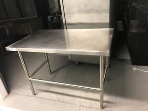 Stainless Steel Commercial Work Prep Table 30 X 96