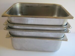 4 Pcs Steam Table Hotel Pans 1 2 Size 4 Deep Stainless Steel Nsf 12 5x10 25x4