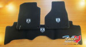 2013 2019 Dodge Ram Quad Cab Black Premium Carpet Floor Mats Mopar Oem