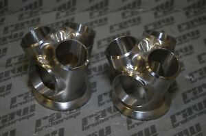 Raw Brokerage Billet Twin Turbo Collectors Set Dual 3 Runner V Band Wastegate