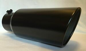 Flat Black 5 Inlet 7 Outlet 18 Long Diesel Exhaust Tip Chevy Duramax