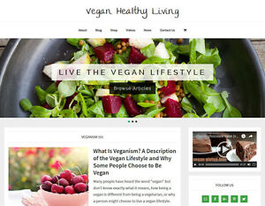 Vegan Health Store Blog Affiliate Website Business For Sale Auto Content