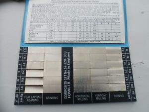 Nice Vtg Fowler 52 720 000 Surface Roughness Standards Complete Set 30 Samples