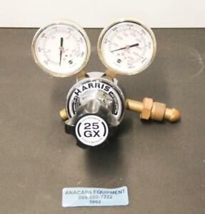 Harris 25gx 145 650l Cga 580 Compressed Gas Regulator W Dual Gauges 5862