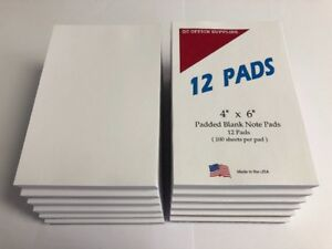 Note Scratch Pads 4 X 6 lot Of 3 100 Sheets Per Pad 36 Pads