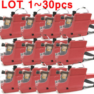 1 30x Mx 6600 10 Digits 2 Lines Price Tag Gun 5 1 Ink Roll White Lables Oy