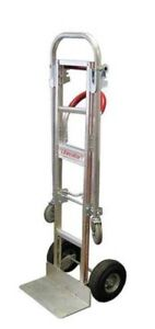 B p Manufacturing Convertible Hand Truck Dolly 600lb 61 1 2x20