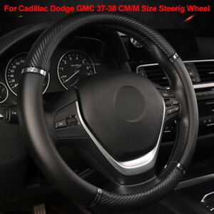 For Cadillac Dodge Gmc Steering Wheel Cover Car Steering Cover 37 38cm M Size