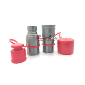 1 2 Skid Steer Bobcat Flat Face Hydraulic Quick Connect Coupler Coupling Set