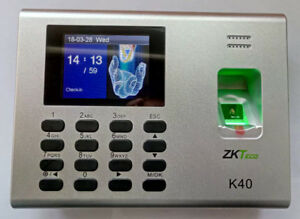 Zkteco K40t Fingerprint Time Clock With Access Control Terminal Built In Battery