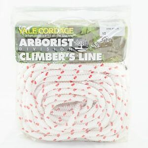 Tree Climbing Line rope 1 2 X 120 Yale Xtc White12 Stand 6000 Lb Strength Usa