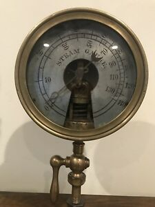cca 1850 Undocumented Patent Steam Gauge Hand Engraved Collectors Antique Ooak