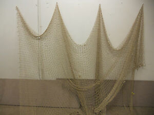 20 X20 Tan Nautical Net Decor Deck Yard Maritime Recycled Fishing Net Misc
