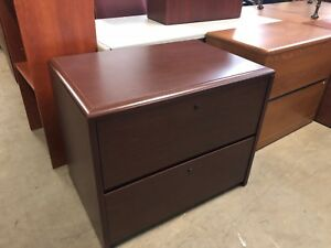 2 Drawer Lateral Size File By National Office Furniture In Mahogany Laminate