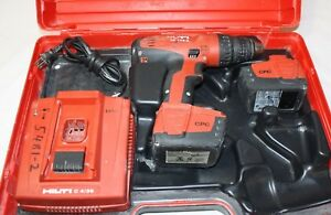Hilti Sf 144 a Cordless Drill Set With Charger 2x Cpc Batteries Case