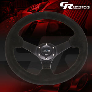 Nrg Reinforced 330mm 3 Deep Dish Black Suede Grip Steering Wheel Replacement