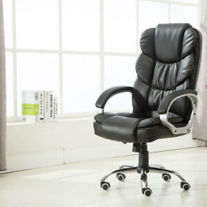 High Back Pu Leather Executive Office Desk Task Computer Seat Luxury Chair Black