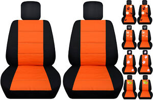 Vw Beetle Front Car Seat Covers Black Orange W Daisy Ladybug Butterfly Hibiscus