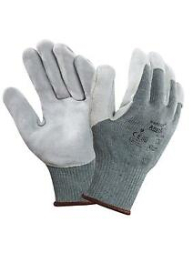 lot Of 12 Ansell 70 765 Size 9 Vantage Cut Resistant Kevlar Lined Gloves