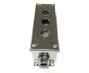 Ge Cr104pes13 Push Button Enclosure 3 Hole Stainless Steel