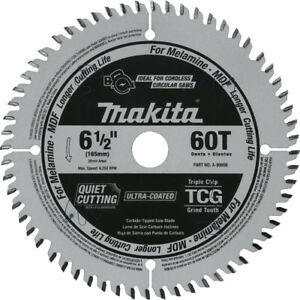 Makita 6 1 2 In 60t tcg Carbide tipped Plunge Saw Blade A 99998 New