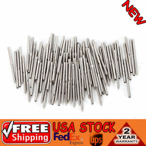 100p set T316 Stainless Steel Lag Stud Hand Swage 1 8 cable Railing Lot Rigging