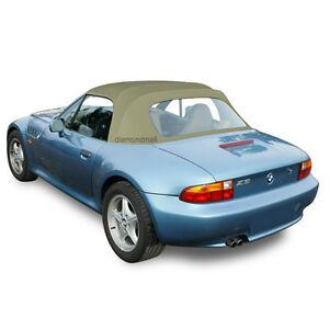 Bmw Z3 1996 2002 Convertible Soft Top With Plastic Window Tan Stayfast Cloth Stf