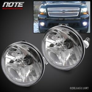 Fit For 07 13 Chevy Avalanche Suburban Tahoe Gmc Clear Fog Lights Lamps Pair