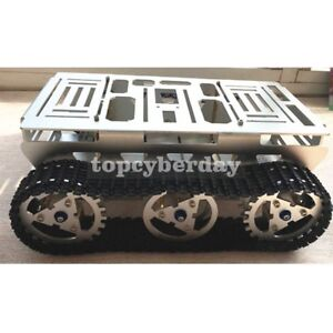 Smart Car Robot Metal Aluminium Alloy Tank Chassis With Powerful Motor For Diy