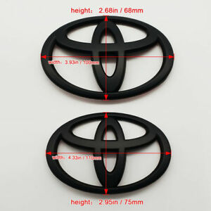 2pcs Matt Black Front And Rear Car Badge Emblem For Toyota 86 Gt86 Frs Us Stock