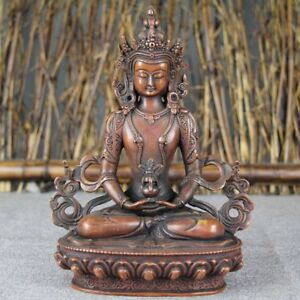 China Antique Copper Tibetan Buddhism Guanyin Buddha Statue
