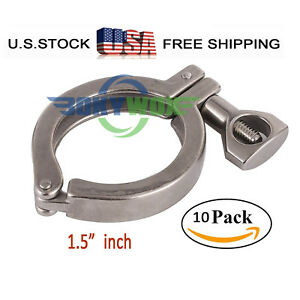 10pcs 1 5 Tri Clamp Clover Ferrule For 50 5mm Stainless Steel Sus304 Heavy Duty
