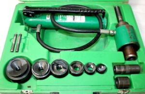 Greenlee 7306sb Slug Buster Knockout Punch Hydraulic 1 2 2 Driver Kit Set
