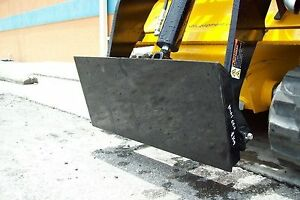 Mini Skid Steer Adaptor Plate Weld On Make Old Attachments Fit Your Loader