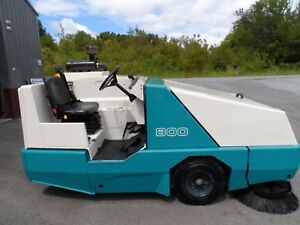 Tennant 800 Sweeper Low Hrs Hard To Fine L p Unit Totally Serviced Gm Eng