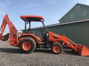 Kubota L39 4x4 Tractor Loader Backhoe Only 400 Hours Clean Low Cost Shipping