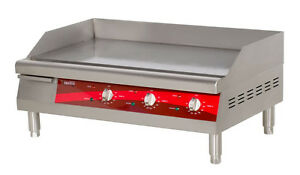 30 Stainless Steel Commercial Electric Restaurant Countertop Flat Top Griddle