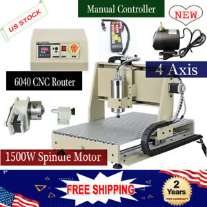 4 Axis 6040 Cnc Router Engraving Drill Carving Cut 1 5kw Motor remote Controller