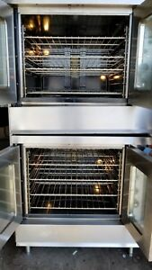 Montague 2 115a Nat Gas D b Stack Full Size Convection Oven Live Pics Free Ship