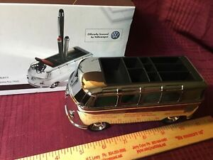 Officially Licensed Vw Troika Silver Vw Bus Desk Accessory Brand New In Box