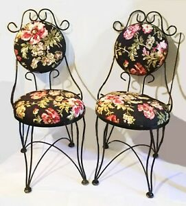Ice Cream Parlor Chairs French Farmhouse Provincial Set Of Two