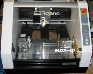 Roland Mdx 40 Desktop 4 Axis Cnc Milling Machine With Upgraded 10 Inch 4th Axis